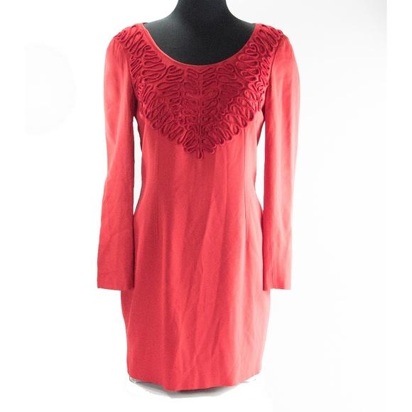FENDI Dresses & Skirts - Fendi Vintage Red Fitted Scrollwork Mini Dress 6 8